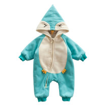 One piece baby hooded jumpsuit winter infant boutique clothing