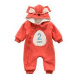 Newborn baby winter clothes fleece boutique baby romper