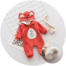Newborn baby winter clothes fleece boutique baby romper