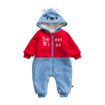 Baby winter clothes long sleeve zipper infant baby romper