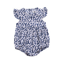 New design sleeveless cute kids bodysuit floral baby romper