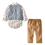 High quality handsome boys bodysuit sets baby newborn sets