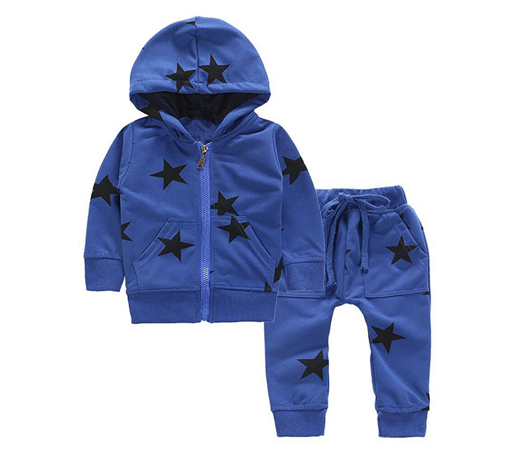 cotton casual children boys clothing set hooded children's suit kids sports wear set