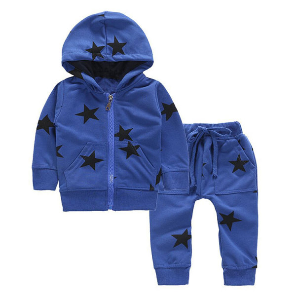 New style cotton casual children boys clothing set hooded children's suit kids sports wear set