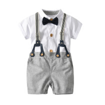 Baby boys gentleman outfits suits, Summer infant baby boy clothes set
