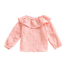 New design baby girl top-pure color cotton baby shirt
