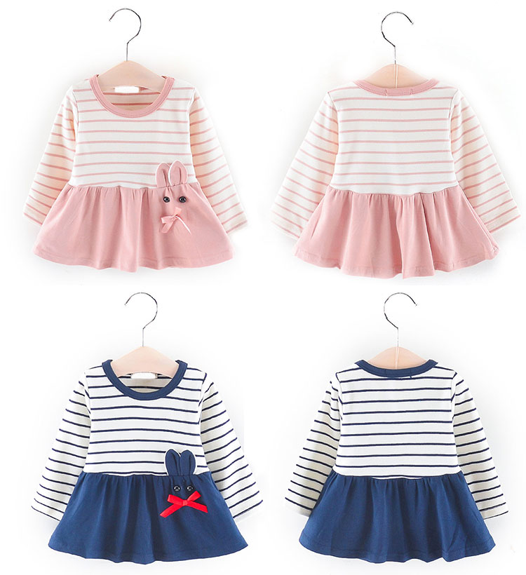 fashion frock for girls, long sleeve baby frock