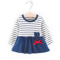 Fashion spring long sleeve baby frock cartoon dress for girls