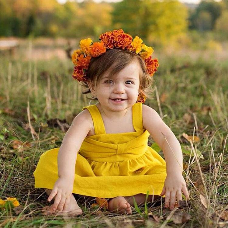 baby girls backless dress, summer baby dress