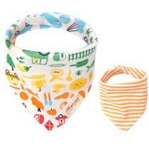 New born baby accessories 100% cotton baby bandana drool bibs