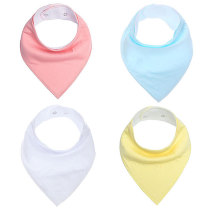 Plain baby clothing accessories cotton solid color baby bib bandana