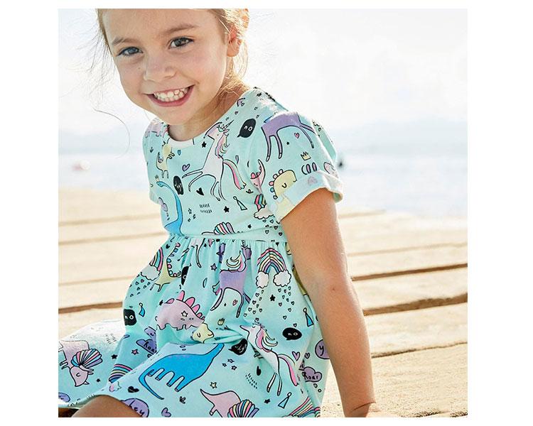 Kids clothes summer children girls cartoon dress