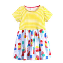 Hot sale cotton summer kids little girls stripe dress