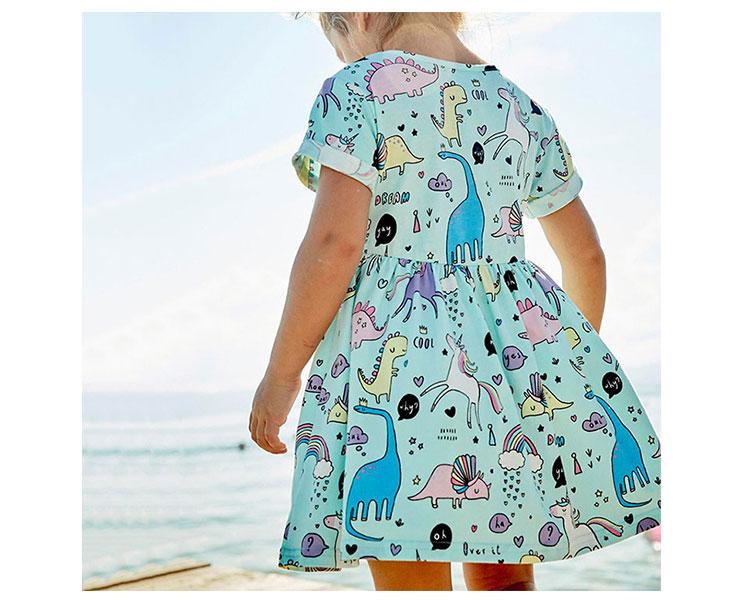 kids clothes girls dress, children cartoon dress