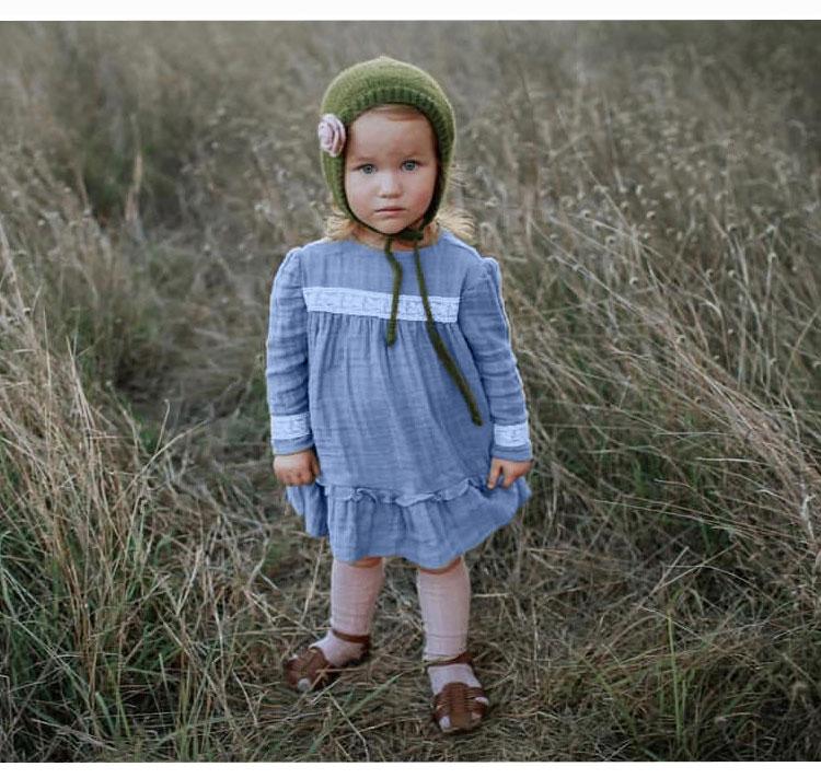 girls frock, long sleeve child girl dress