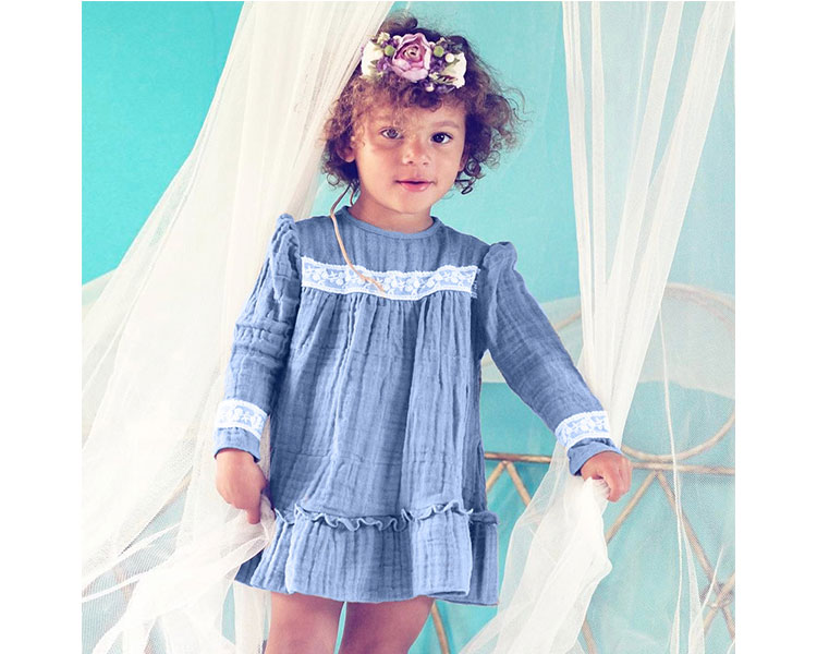 long sleeve child girl dress casual autumn girls frock