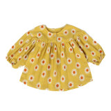 Fashion printed little girl princess dress cotton baby dress