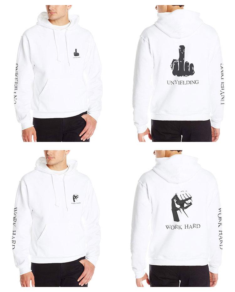 men gym clothing white men trendy hoody sweatshirts