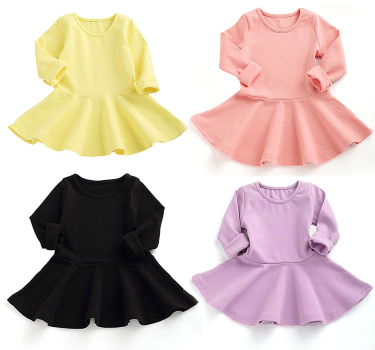 girls dresses, cotton kids frocks, kids dress long sleeve