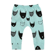 Cartoon printed little boys clothing cotton trousers kids harem pants