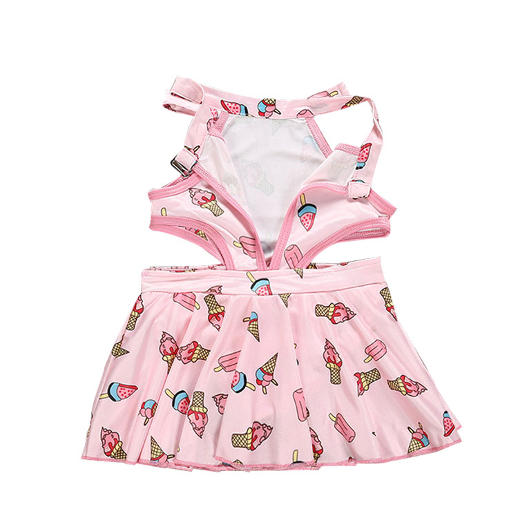 ice cream printed swimwear, kids  girls swimwear