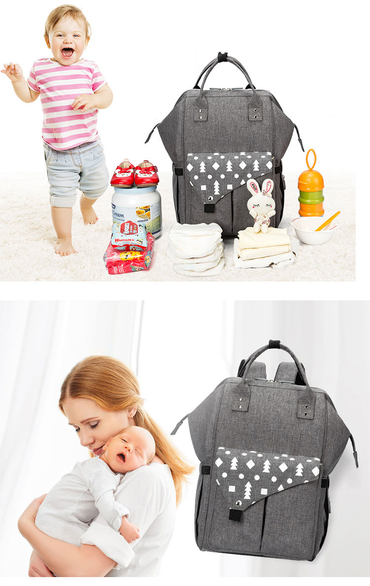 Large capacity diaper backpack portable baby mummy bag