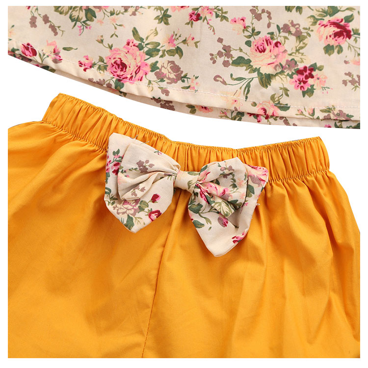 lovely floral girls clothing set, baby clothes