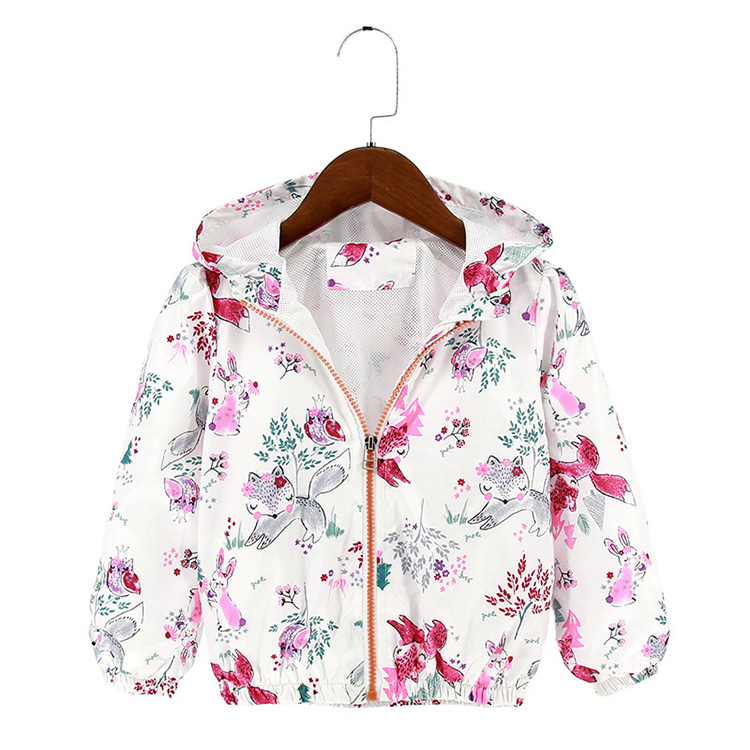 100% Polyester Girls Jackets Kids Hooded Coat For Children