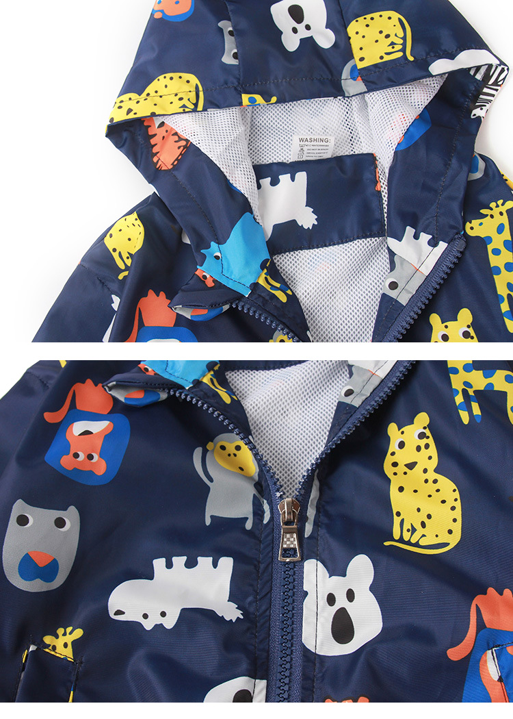 boys jacket, kids cartoon printed jacket