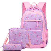 Large Capacity Children Waterproof School Bags Backpack 3pcs Sets