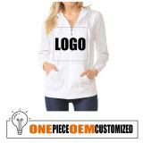 Long Sleeve Sweatshirt Customized Women Zip Up Hoodies