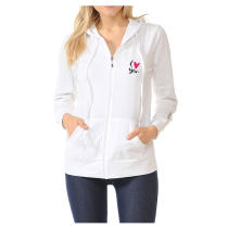 OEM logo zip up women pullover hoodies