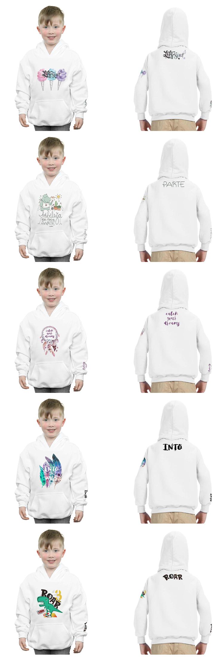 Kids Sweatshirts Plain Pullover Cartoon Printed Custom Kids Hoodie