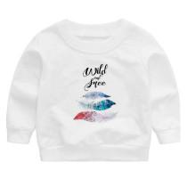 High Quality Crewneck Girls Sweatshirt Customized Print Logo