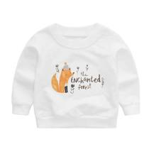Fashion Kids Pullover Cartoon Printed Girls Sweatshirt