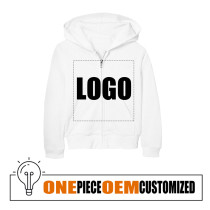Hot Selling Girls Clothes OEM Design Kids Zipper Hoodie Custom Logo