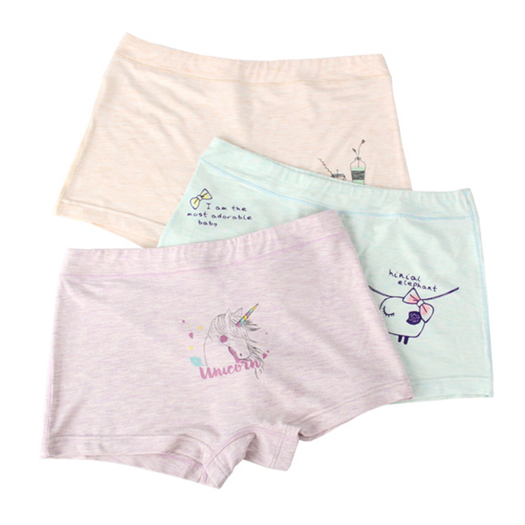 New Design Kids Underwear Colored Cotton Girls Panties