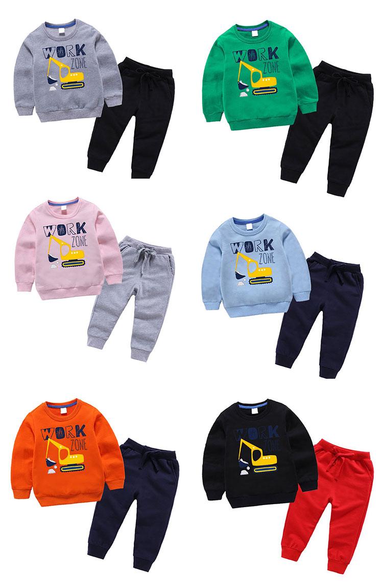 Fashion children's suit 100% cotton clothes for kids
