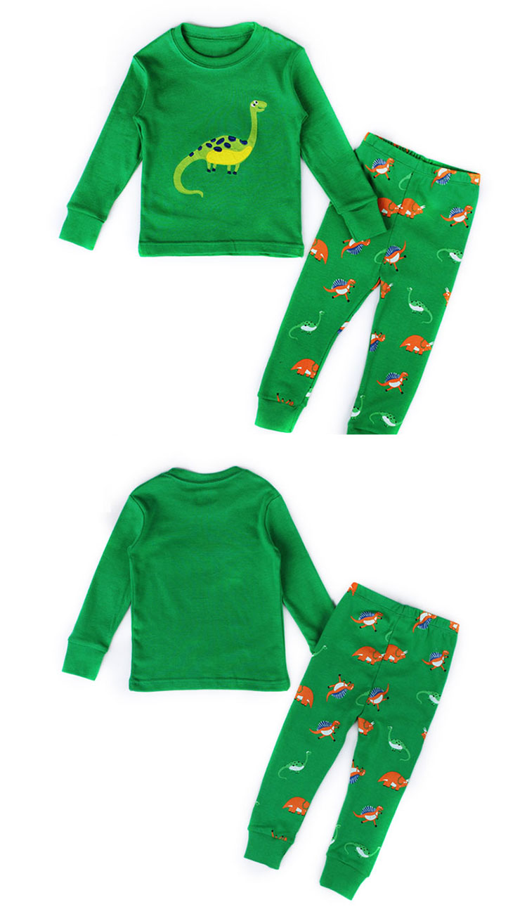 Long Sleeve Children Pajamas Set Cartoon Printed Kids Sleepwear