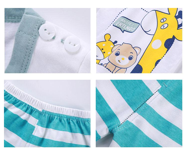 Cartoon Kids Garment Short Sleeve Little Boys Clothing Sets