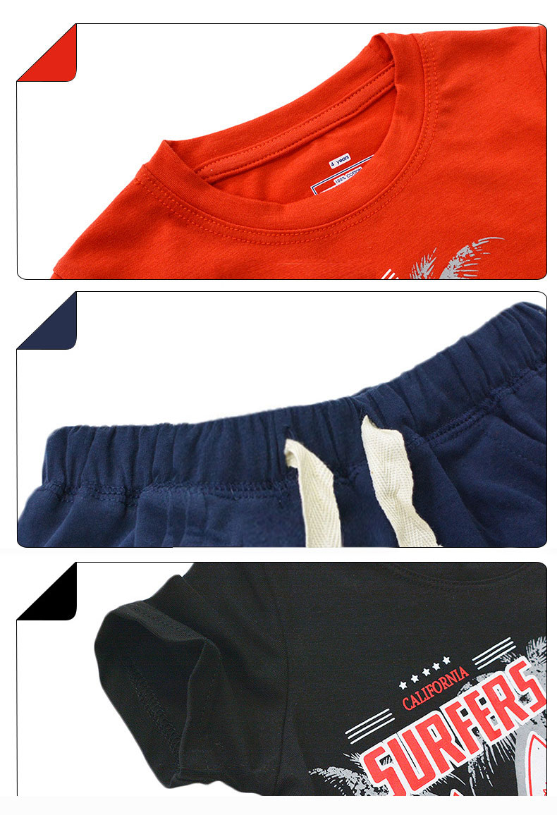 Trendy Little Boys Clothing Sets Summer Children Clothes