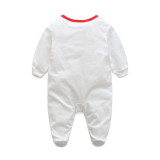 Long Sleeve Baby Bodysuit White Baby Romper Jumpsuit