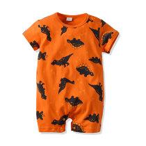Summer Printed Baby Boy Romper Short Sleeve Jumpsuit