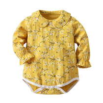 Long Sleeve Bodysuit Floral Printed Baby Girls Rompers