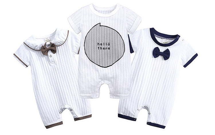 baby short sleeve romper, baby clothes, baby romper