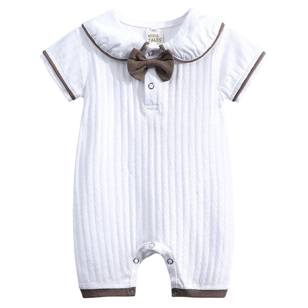 Short Sleeve Baby Jumpsuit Clothes White Baby Romper