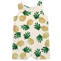 Fashion Printed Newborn Sleeveless Cotton Summer Baby Romper