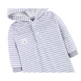 100% Cotton Long Sleeve Hooded Baby Rompers For Winter