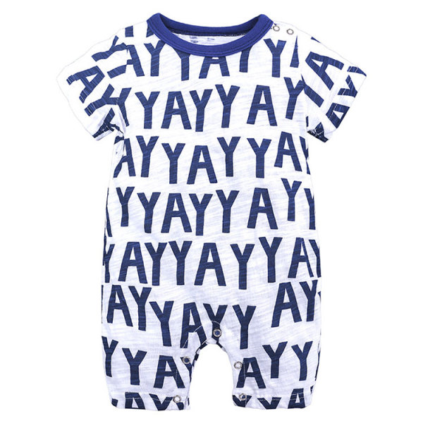 Letter Printed Baby Bodysuits Rompers Cotton Plain Baby Onesie