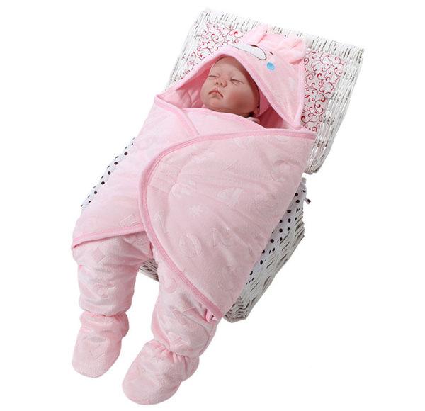 Hot Selling Hooded Baby Swaddle Winter Baby Sleeping Bag